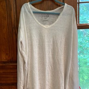 Free People We The Free White Tunic Split Tail S